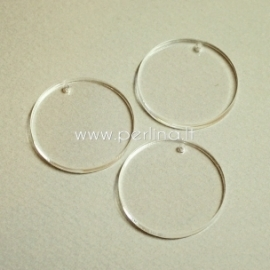 """Org. stiklo detalė-pakabukas """"Pilnatis"""", skaidrus, 3 cm"""