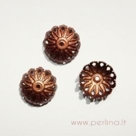 Bead cap, copper, 12x5 mm