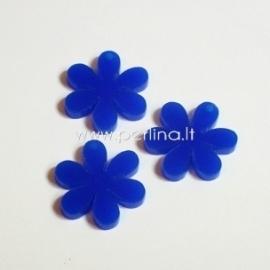 """Org. stiklo detalė-pakabukas """"Gėlytė"""", mėlynos sp., 2,2x2,2 cm"""