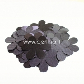 Fabric flower, eggplant, 1 pc, select size