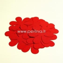 Medžiaginė gėlytė, raudona sp., 1 vnt., dydis pasirenkamas