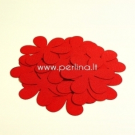 Fabric flower, red, 1 pc, select size