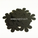 Medžiaginė gėlytė, juoda sp., 1 vnt., dydis pasirenkamas