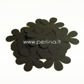 Fabric flower, black, 1 pc, select size