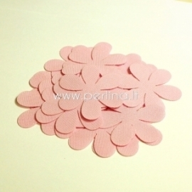 Fabric flower, light pink, 1 pc, select size