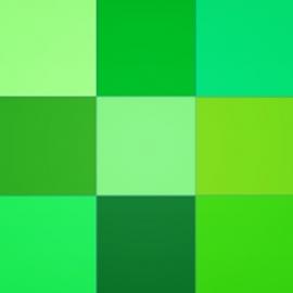 Žalios spalvos atspalviai